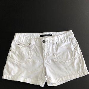 Calvin Klein Jeans white denim shorts